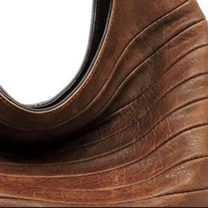 My Bag Lady Online Bags - Luxury Chocolate Shiplap Extra Large Hobo Bag